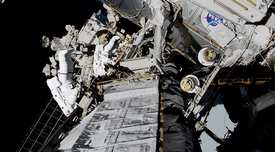 US astronauts complete first ever all-women spacewalk