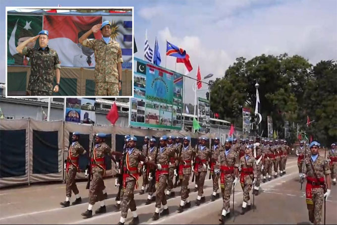 Pakistan Army organizes multinational joint medal parade at DRC HQ